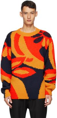 Dries Van Noten Navy Wool Sweater
