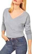 Reformation Sadie Cashmere Blend V-Neck Sweater
