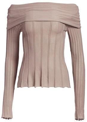 Agnona Off-The-Shoulder Sweater