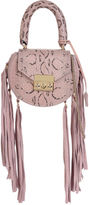 Salar Pink Snake Fringed Mimi Mini Bag