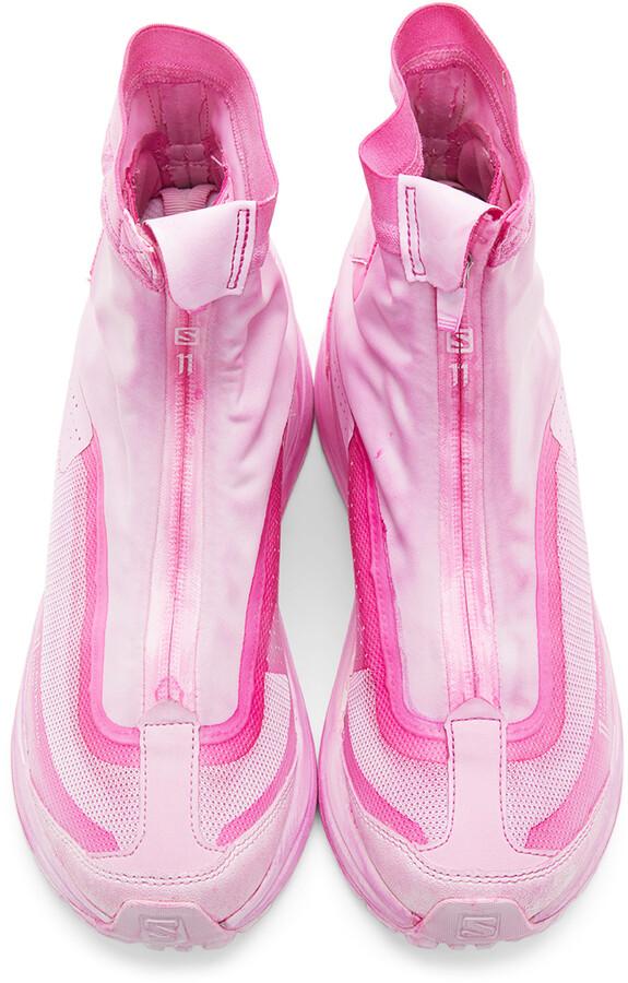 Thumbnail for your product : 11 By Boris Bidjan Saberi Pink Salomon Edition High Bamba 2 Sneakers