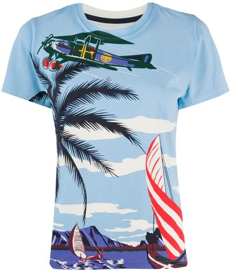 Tory Burch tropical print T-shirt