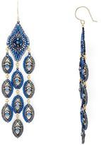 Miguel Ases Peacock Chandelier Drop Earrings