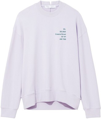 Proenza Schouler White Label Address Logo Print Sweatshirt