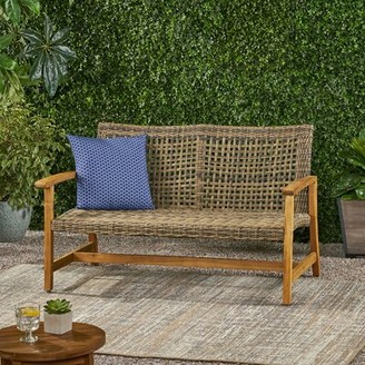 Bungalow Rose Clemens Loveseat Frame Color: Natural Stain/Gray