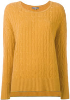 N.Peal cashmere oversize box cable jumper