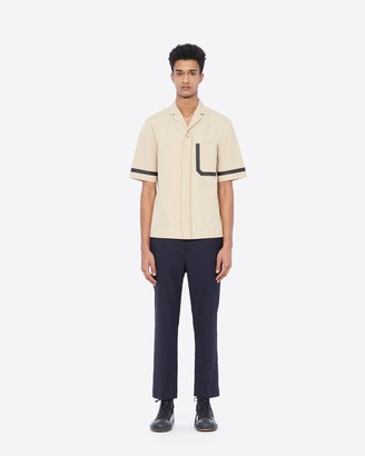 3.1 Phillip Lim Short Sleeve Shirt With Notched Lapels