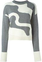 Jil Sander Navy intarsia knit jumper