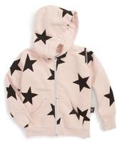 Nununu Infant Girl's Star Zip Hoodie