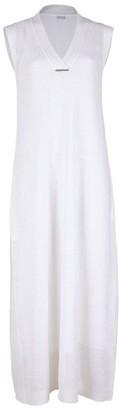 Brunello Cucinelli V-Neck Paillette Maxi Dress