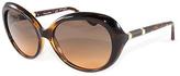 Tory Burch Gray & Orange Gradient Oversize Sunglasses