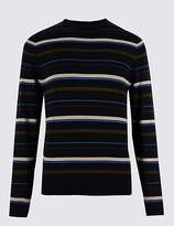 Limited Edition Pure Cotton Striped Slim Fit Jumper