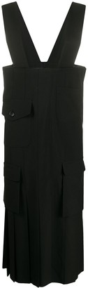 Comme des Garcons Pleated Cargo Pinafore Dress
