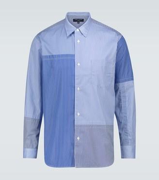 Comme des Garçons Homme Patchwork striped cotton shirt