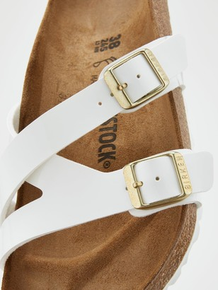 Birkenstock Yao Strappy Slide Flat Sandals - White