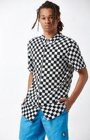 T&C Surf Designs Checkered Short Sleeve Button Up Camp Shirt