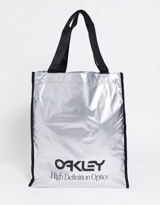 Oakley body shoulder bag in silver
