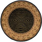 "Momeni Rugs NEWWANW-09BLK590R New Wave Collection, 100% Wool Hand Carved & Tufted Contemporary Area Rug, 5'9"" Round"