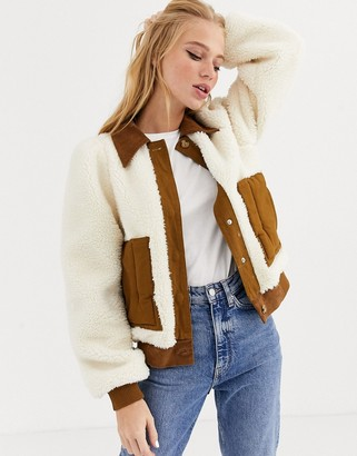 L.F. Markey Lawrence faux shearling and cord jacket