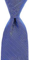 Roundtree & Yorke Trademark Basket Herringbone Narrow Silk Tie