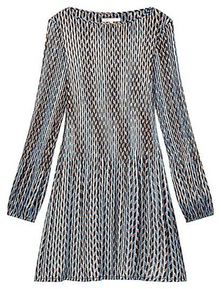Maje Rockilane Printed & Pleated Dress