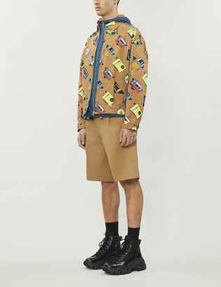 Prada Music Icon graphic-pattern cotton-twill jacket
