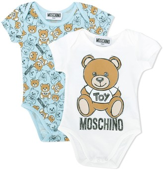 MOSCHINO BAMBINO Repeat Logo Bodies Set