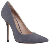 Kurt Geiger Ellen High Heel Court Shoes, Grey Suede