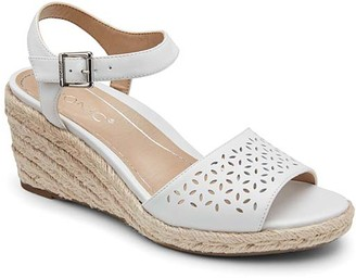 Vionic Women's Sandals WHT - White Ariel Leather Sandal - Women