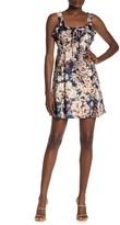 Angie Ruffle Floral Print Babydoll Mini Dress