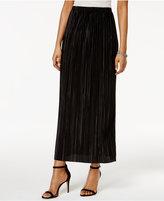 MSK Plissé Pleated Maxi Skirt