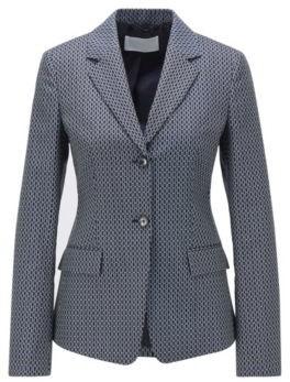 HUGO BOSS Regular Fit Jacket With Jacquard Woven Monogram Motif - Patterned