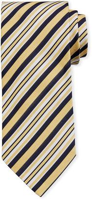 Ermenegildo Zegna Multi-Stripe Silk Tie, Yellow