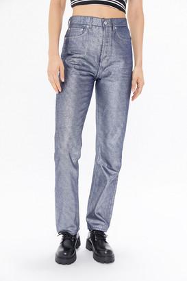 BDG Metallic High-Rise Straight Jeans