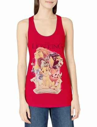 Disney Women's Lion King Character Poster Ideal Racerback Graphic Tank Top