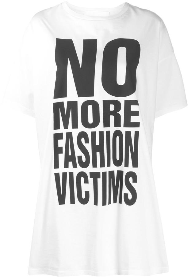 No more Fashion Victims print T-shirt