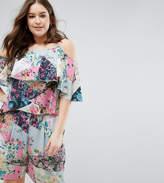 Asos Asymmetric Cami Top in Mixed Floral Co-Ord