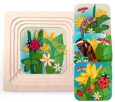 ToyCentre Hess Wooden Toddler Toy Cube Fairy Tales for Plugging Puzzle