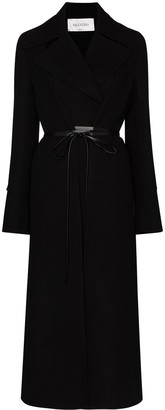Valentino Tie-Front Double-Breasted Coat