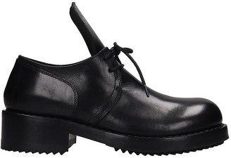 Raf Simons Lace Up Shoes In Black Leather