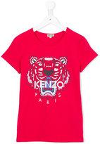 Kenzo logo print T-shirt - kids - Cotton/Spandex/Elastane - 16 yrs