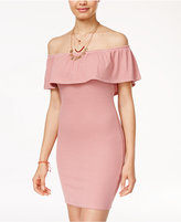 Planet Gold Juniors' Off-The-Shoulder Bodycon Dress