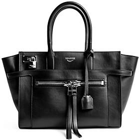 Zadig & Voltaire Candide Medium Smooth Leather Handbag