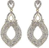 Mikey Twin oval loop crystal drop earring