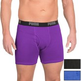 Puma Cotton Blend Boxer Briefs - 3-Pack (For Men)