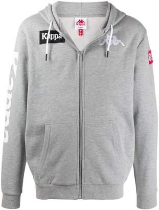 Kappa logo embroidered zipped hoodie