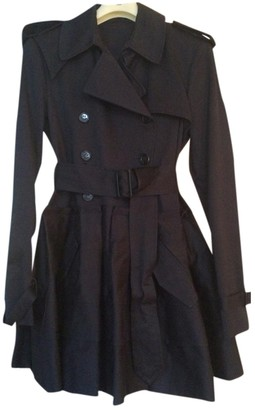 Charles Anastase Navy Cotton Trench Coat for Women