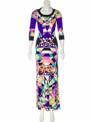 Emilio Pucci Silk Maxi Dress Purple