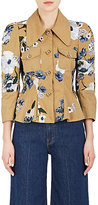 Erdem Women's Shari Embroidered Cotton Peplum Jacket