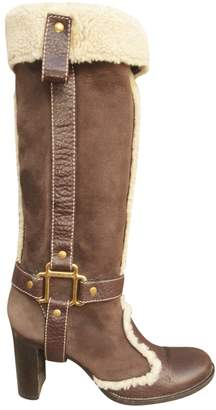 Dolce & Gabbana \N Brown Suede Boots